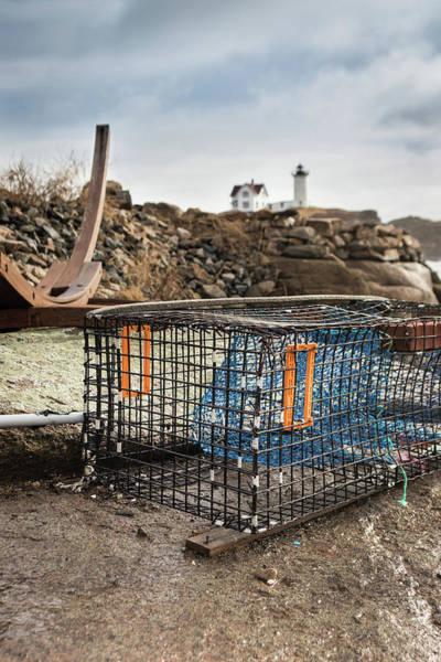 Photograph - Lobster Trap At Cape Neddick by Kristen Wilkinson