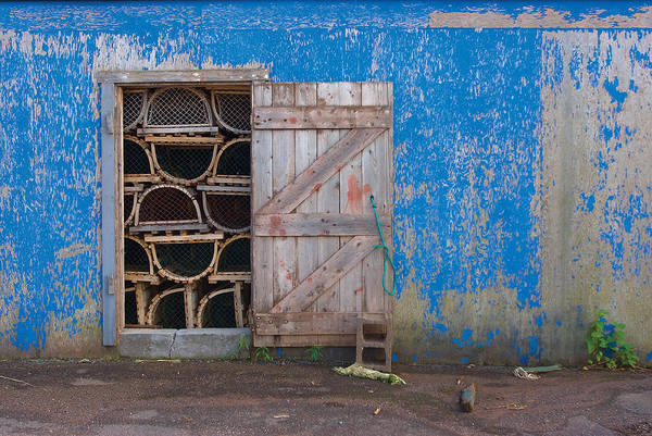 Photograph - Lobster Trap Storage-2 by Steve Somerville