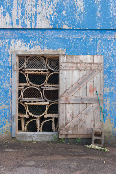 Photograph - Lobster Trap Storage-3 by Steve Somerville