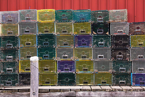 Wall Art - Photograph - Lobster Traps - Portland Maine by Eric Gendron