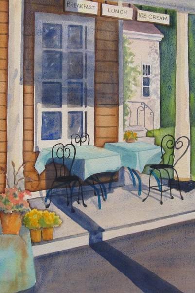 Porch Painting - Local Hangout by Marsha Elliott