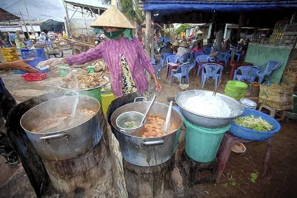 Vung Tau Photograph - Local Street Food Vendor. by Muslianshah Masrie