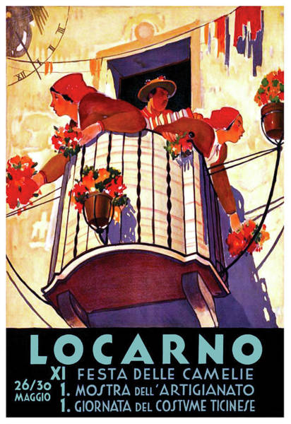 Feast Painting - Locarno, Feast Of The Camellias, Switzerland by Long Shot