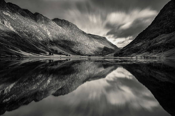Glencoe Photograph - Loch Achtriochtan Reflection by Dave Bowman