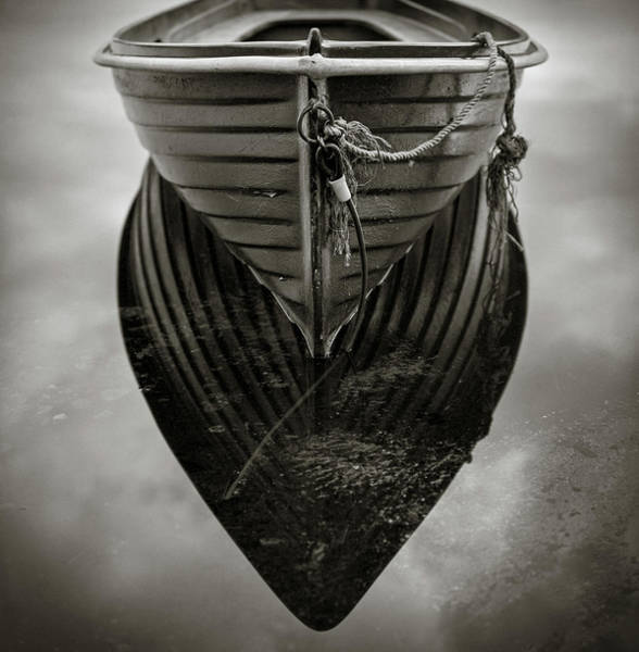 Fx Photograph - Boat Reflection by Dave Bowman