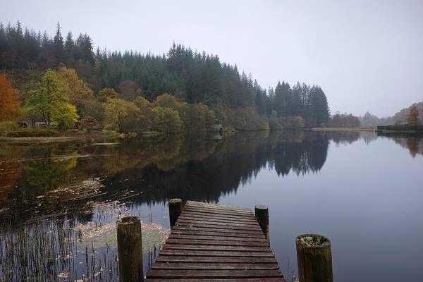 Photograph - Loch Ard On A Dull Grey Morning by Stephen Taylor