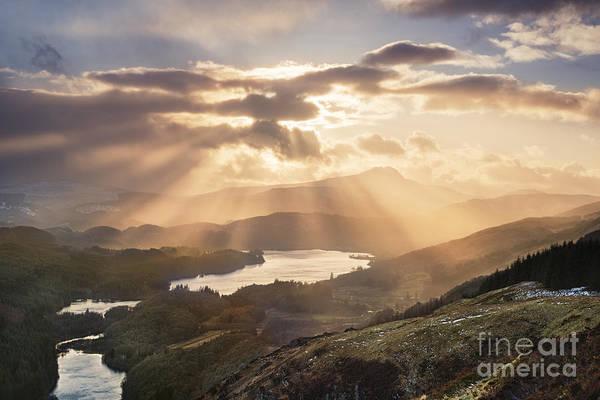 Loch Ard Photograph - Loch Ard Sunburst 1 by Rod McLean