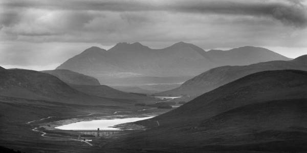 Loch Glascarnoch And An Teallach Art Print