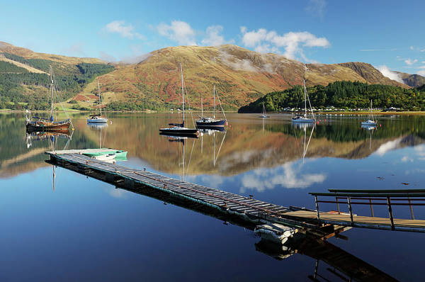 Wall Art - Photograph - Loch Leven  Jetty And Boats by Grant Glendinning