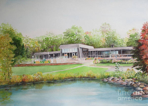 Up North Painting - Loch Lomond Beach Clubhouse by Patricia Ricci