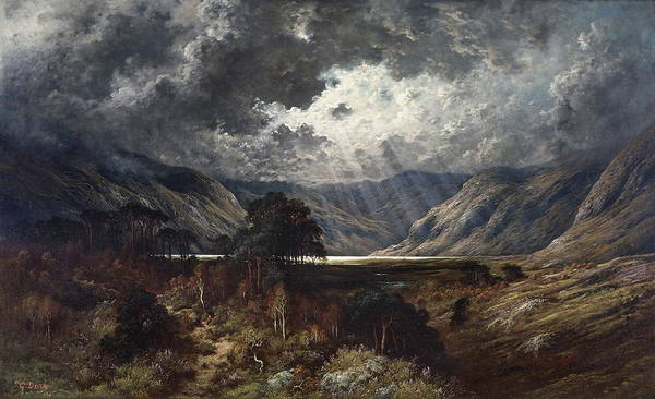 Wall Art - Painting - Loch Lomond by Gustave Dore