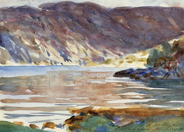 Impressionistic Drawing - Loch Moidart by John Singer Sargent