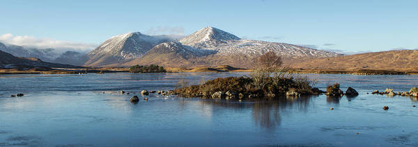 Frost Digital Art - Loch Nah-achlaise, Rannoch Moor by Pat Speirs