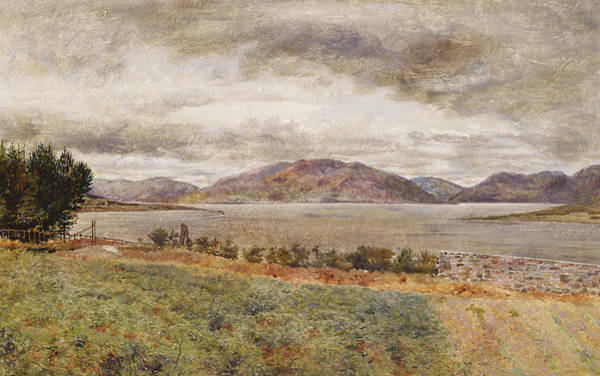 Gloomy Painting - Loch Strivan  by William Davis