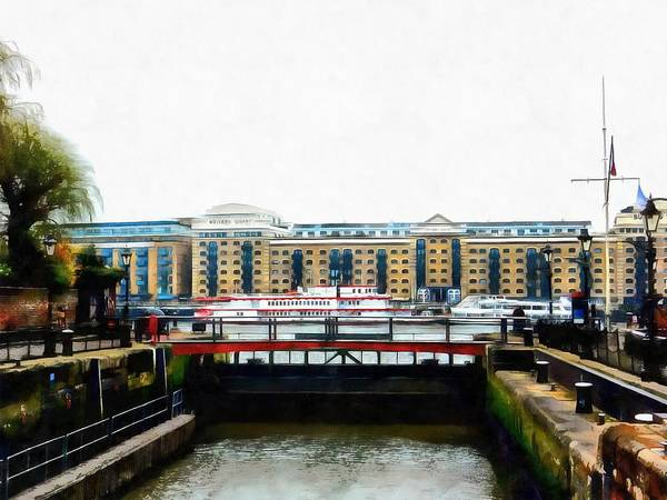 Lock Haven Wall Art - Photograph - Lock Entrance St Katharine Docks by Dorothy Berry-Lound