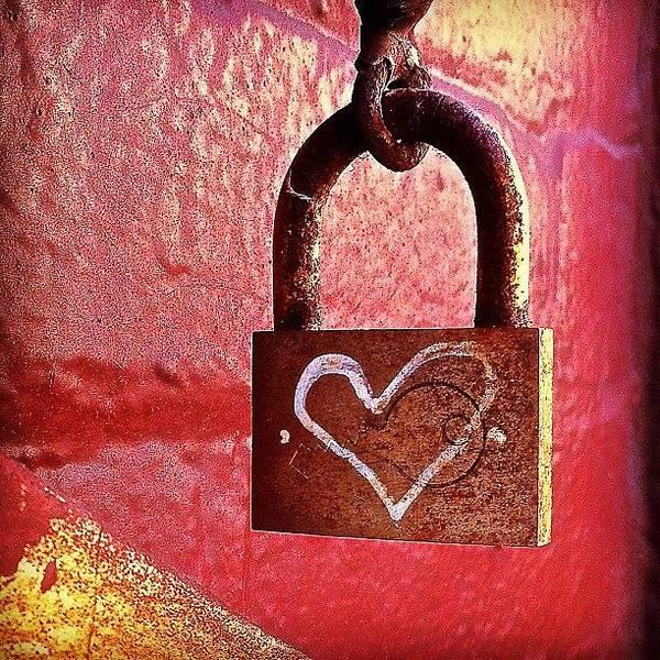 Wall Art - Photograph - Lock/heart by Julie Gebhardt