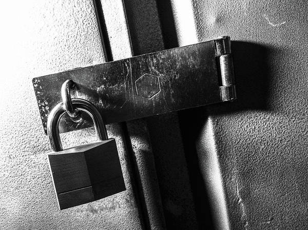 Photograph - Locked Cabinet by SR Green