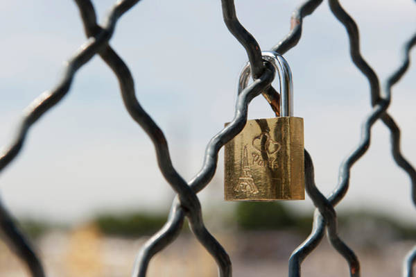 Photograph - Locked In Paris II by Helen Northcott