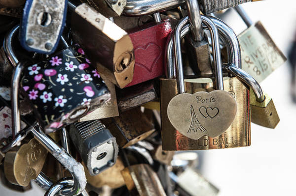Photograph - Locked In Paris Vi by Helen Northcott