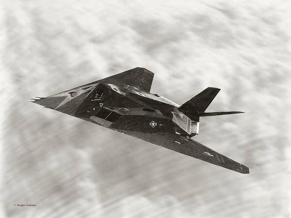 Digital Art - Lockheed F-117a Nighthawk Drawing by Douglas Castleman