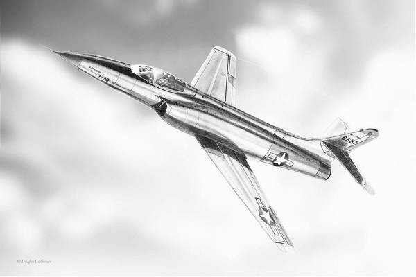 Drawing - Lockheed F-90  by Douglas Castleman