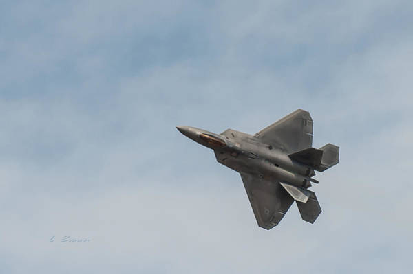 Wall Art - Photograph - Lockheed Martin F-22 Raptor Manuvering by L Brown