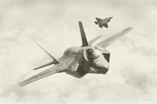 Digital Art - Lockheed Martin F-35a by Douglas Castleman