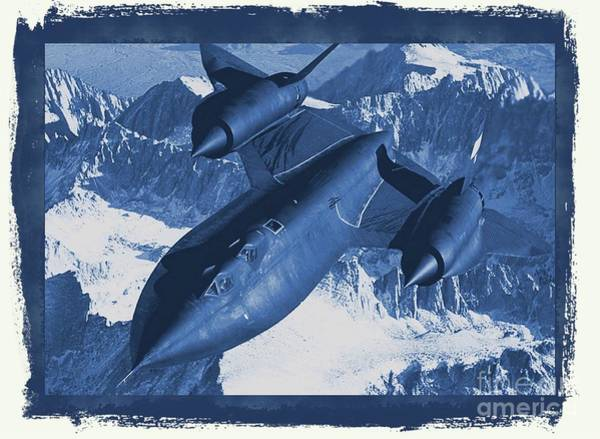Space Exploration Digital Art - Lockheed Sr-71 Blackbird by Raphael Terra