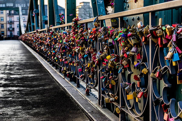 Photograph - Locks Of Lock Bridge by Alpha Wanderlust