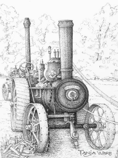 Wall Art - Drawing - Locomobile by Tanja Ware