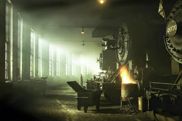 Roundhouse Photograph - Locomotive Breath by Peter Chilelli