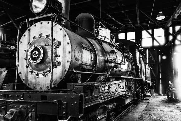 Roundhouse Photograph - Locomotive No 2 by Garry Gay