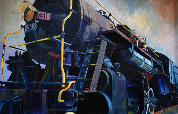 Painting - Locomotive Oil Study by Steven Ward