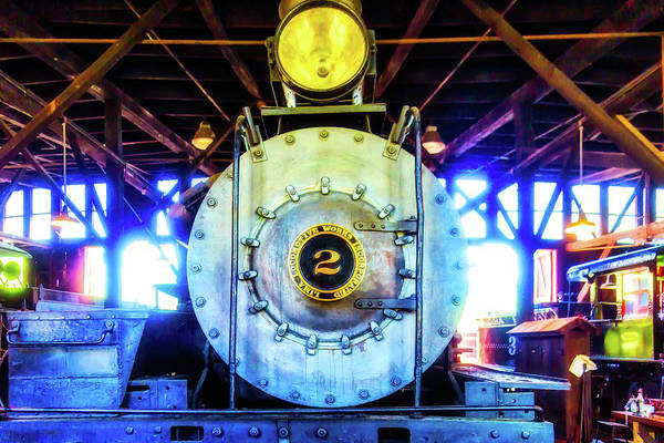 Roundhouse Photograph - Locomotive Works No 2 by Garry Gay
