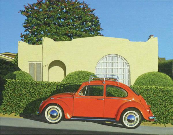 Laguna Beach Painting - Locust St. House by Michael Ward