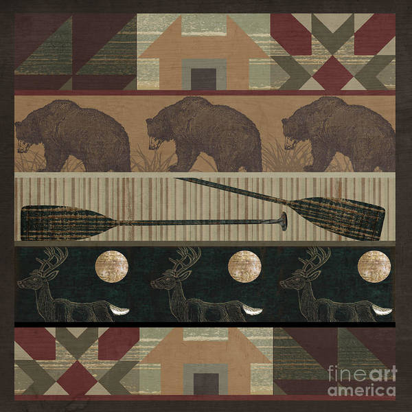 Wall Art - Painting - Lodge Cabin Quilt by Mindy Sommers
