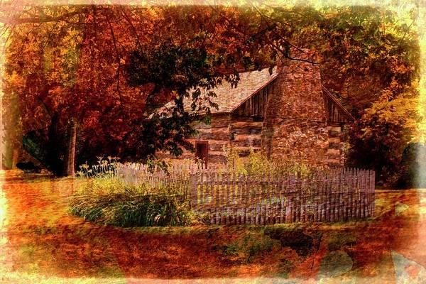 Digital Art - Log Cabin by Rusty R Smith