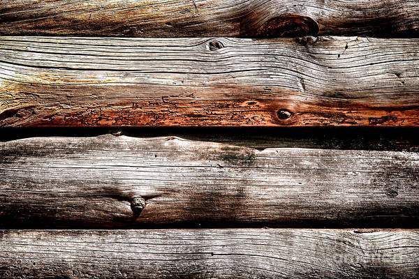Wood Siding Wall Art - Photograph - Log Cabin Wall by Olivier Le Queinec
