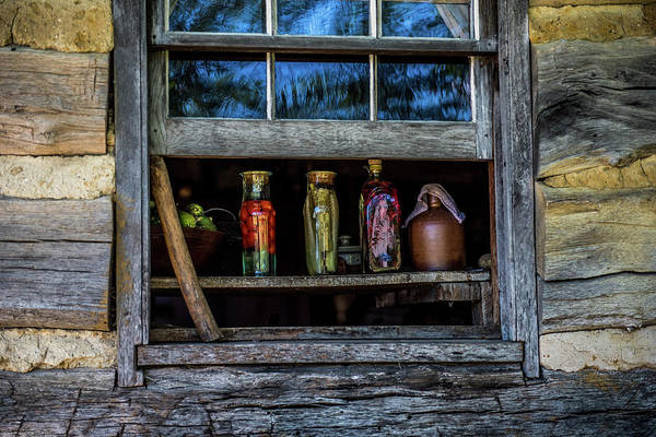 Wood Siding Wall Art - Photograph - Log Cabin Window by Paul Freidlund