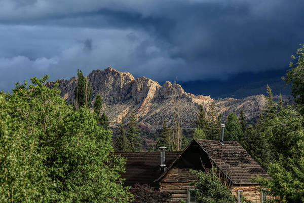 Torrey Photograph - Log Cabin With A View by Donna Kennedy