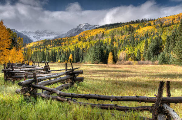 Photograph - Log Fence by Steve Stuller