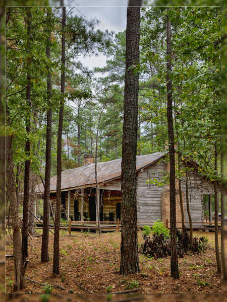 Photograph - Log House In East Texas by Charles McKelroy