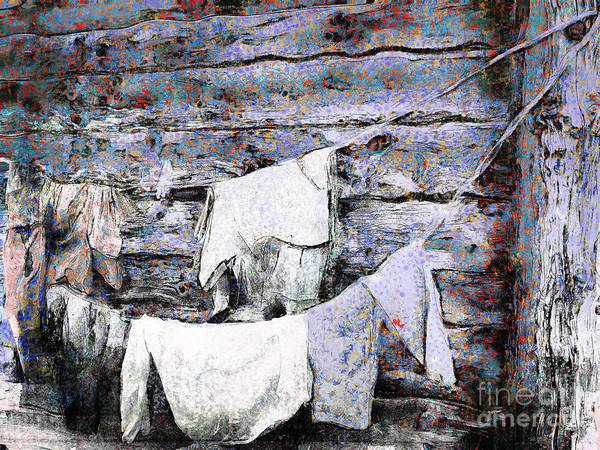 Photograph - Log House Laundry by Claire Bull