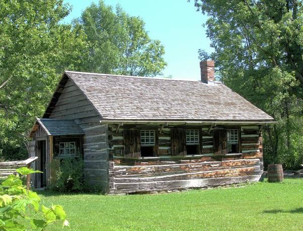 Pioneer School Photograph - Log School House by Valerie Kirkwood