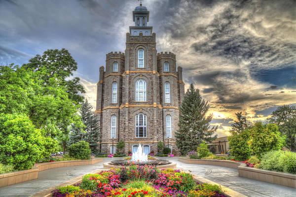 Mormon Photograph - Logan L D S Temple 2 by Donna Kennedy