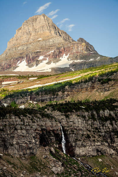 Photograph - Logan Pass Peak And Fall by Rikk Flohr