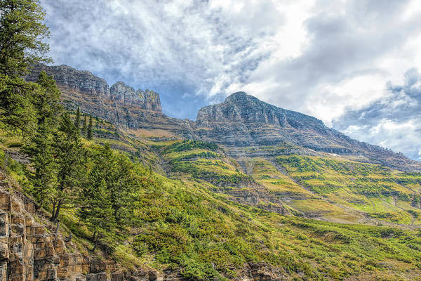 Photograph - Logan Pass Vista by John M Bailey