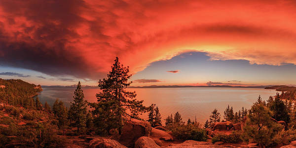 Herron Photograph - Logan Shoals Fire In The Sky by Mike Herron