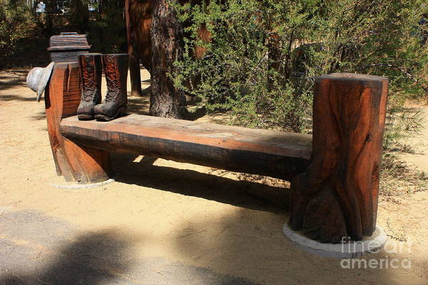 Photograph - Logger Bench In Oregon by Carol Groenen