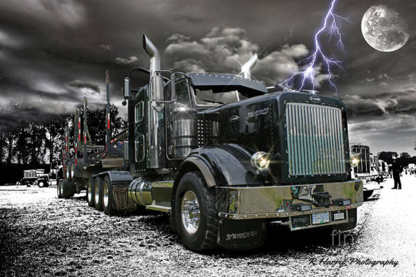 Wall Art - Photograph - Logger On A Stormy Night by Randy Harris